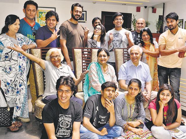 Artistes of Pakistan's Ajoka Theatre group in Chandigarh on Monday.