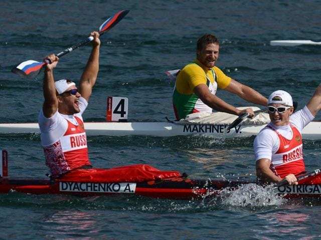 Canoeing's governing body has banned five Russians from next month's Rio Olympics.