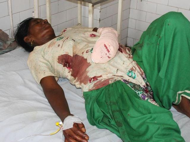 Jagir Kaur, one of the persons injured in the attack at