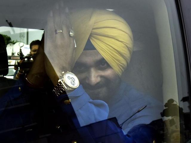 Former BJP leader Navjot Singh Sidhu after his press conference in New Delhi on Monday.
