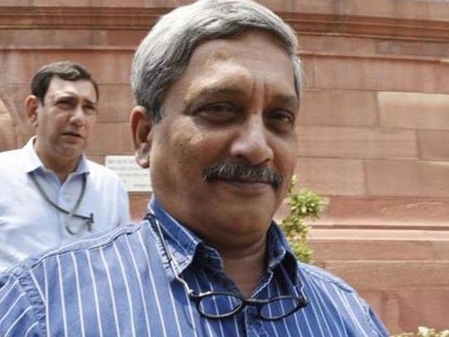 File photo of defence minsiter  Manohar Parrikar. The Indian Army does not have any plans for inducting women in combat roles, Parrikar told the Rajya Sabha on July 26, 2016.