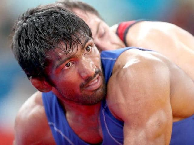 A file photo of India's Yogeshwar Dutt during the  London 2012 Olympic Games.