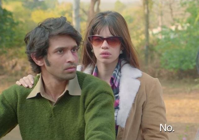 Kalki Koechlin and Vikrant Massey in a still from Death in the Gunj.