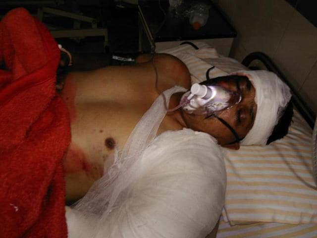 The injured cop was rushed to Joshi Hospital near Kapurthala Chowk where he underwent surgery.