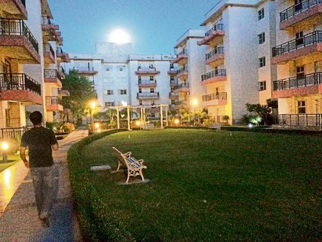 Ashberry Apartments, a residential society lodges 165 students of IIM Amritsar.