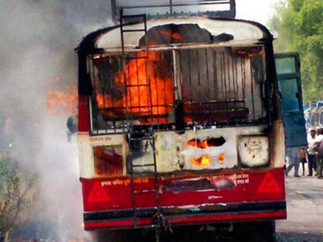 The fire broke out from the rear side of the non-AC sleeper bus on a national highway in Varur near Hubballi, about 420 kms from Bengaluru.