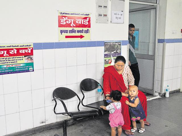 The signs of dengue preparedness at Doon Medical College Hospital in Dehradun on Wednesday.