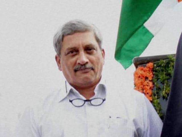Union minister for defence Manohar Parrikar after unveiling the statue of Dr APJ Abdul Kalam, on the occasion of his first death anniversary, at Rameswaram on Wednesday.