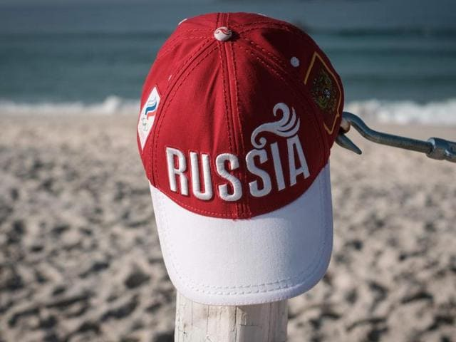 View of a cap of Russia at Pepe beach in Rio de Janeiro, Brazil.