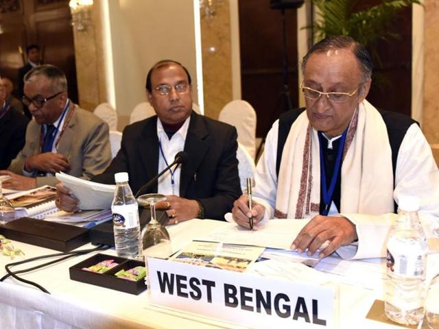 Amit Mitra during the recently concluded elections in West Bengal.