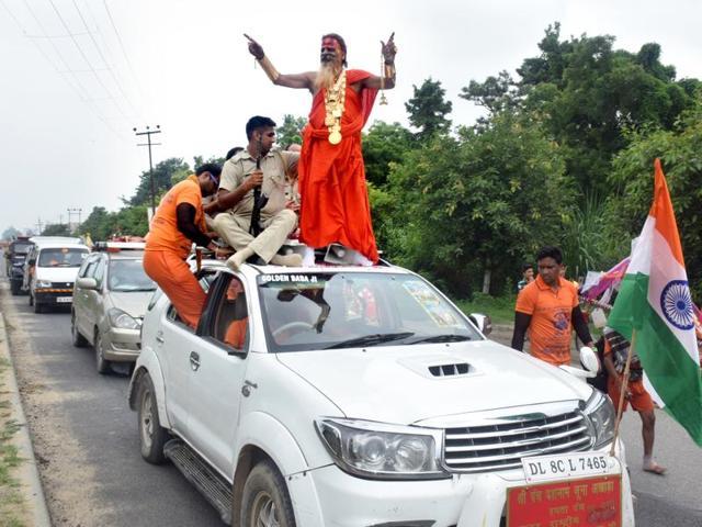 Golden Baba,Kanwar Yatra,Gold