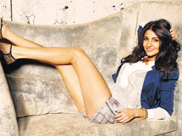 Anushka Sharma in a pair of shorts