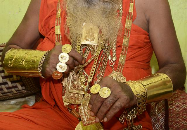This Baba Is Worth His Weight In Gold Literally Delhi