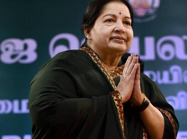 AIADMK supremo J Jayalalithaa after taking oath as the Tamil Nadu CMat Madras University.