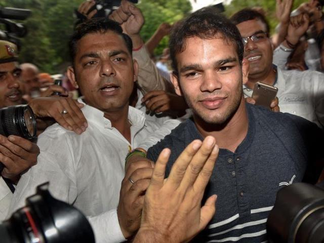Narsingh Yadav,Wrestler Narsingh Yadav fails dope test,Narsingh yadav out of Rio Olympics