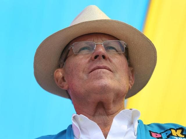 In this May 3, 2016 file photo, presidential candidate Pedro Pablo Kuczynski looks out at his supporters during a rally on the outskirts of Lima, Peru.