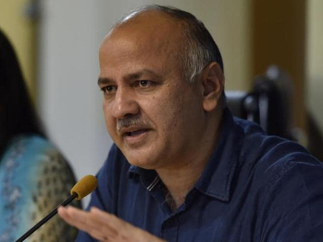 Manish Sisodia addresses a press conference on the PTM meeting in government schools at Delhi secretariat in New Delhi.