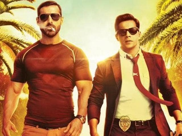In this buddy-cop drama, John Abraham plays the abrasive, mercurial, sullen Kabir Shergill from India's Special Task Force. Varun Dhawan is the over-enthusiastic, eager-to-please, hyper-energetic rookie.