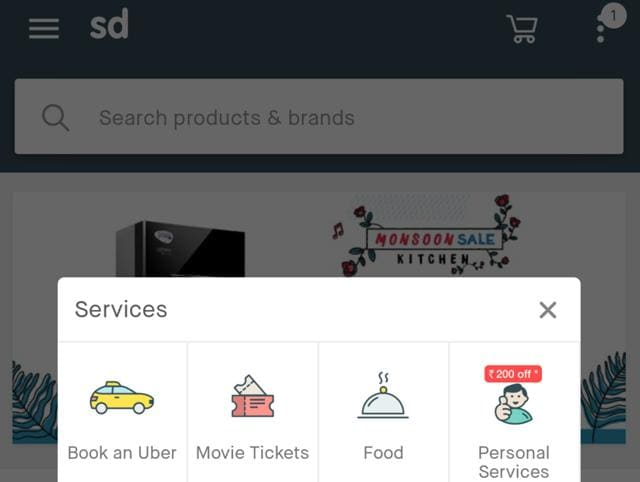 Snapdeal has recently added a range of services on its platform, allowing customers to book  tickets, flights, plumber, order food and even pay bills directly through its platform.