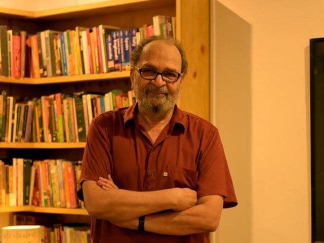 Saeed Naqvi at home in New Delhi.