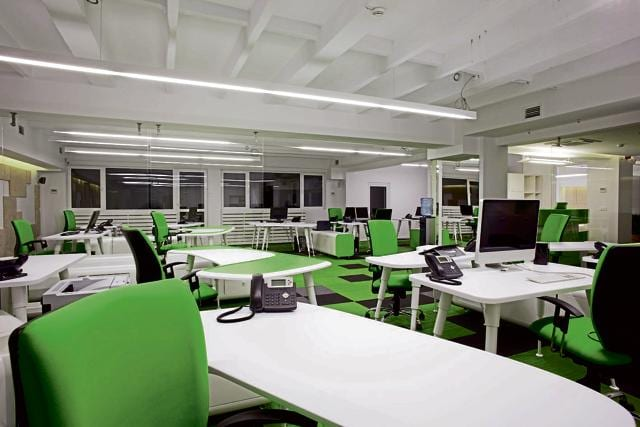 Commercial space leasing in Delhi NCR has increased because of large market deals.