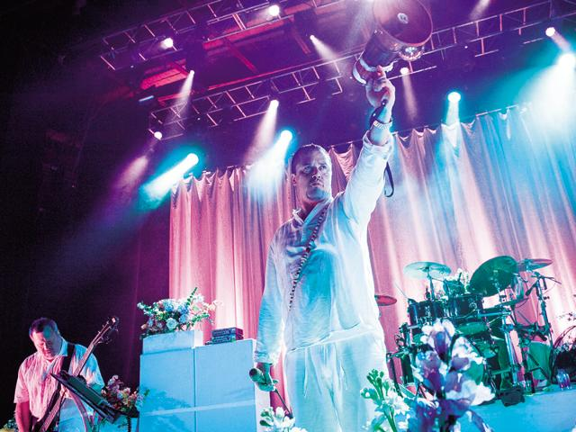 Mike Patton, Faith No More's frontman, can not only sing in Italian and Spanish, but also has a stupendous vocal range(Getty Images)