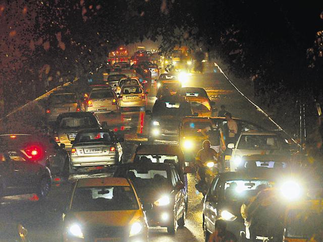 Nearly 4,000 of the 15,000 streetlights across Gurgaon are not working since Wednesday.