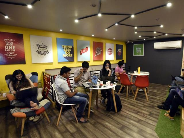 Startups can now lease office space for as little as Rs 5,000 per month in Delhi's swank Connaught Place area with access to conference rooms, Wi-Fi; tax, legal, HR consultancy and more.