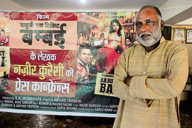 Writer Nazeer Qureshi in Bhopal on Thursday.