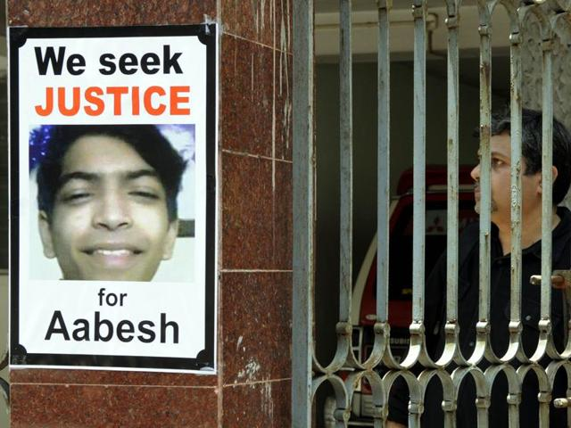 Aabesh Dasgupta, a student of St Xavier's Collegiate School, was found lying in a pool of blood in the basement of the posh apartment block in Sunny Park on Saturday.