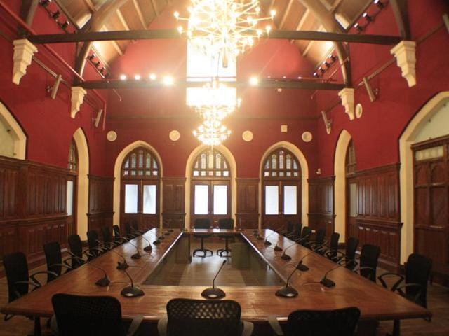 Chambers and offices have been given upgrades - new chandeliers, restored stained glass, polished rafters.