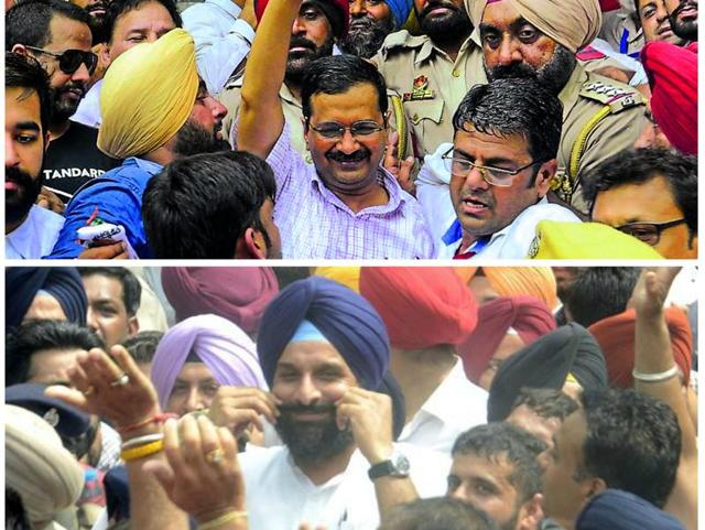 Commandeered by senior leaders and a couple of ministers, the Akali crowd packed the main entrance to the court so tightly that even Majithia struggled to get in and Kejriwal had to be ushered through the backdoor.