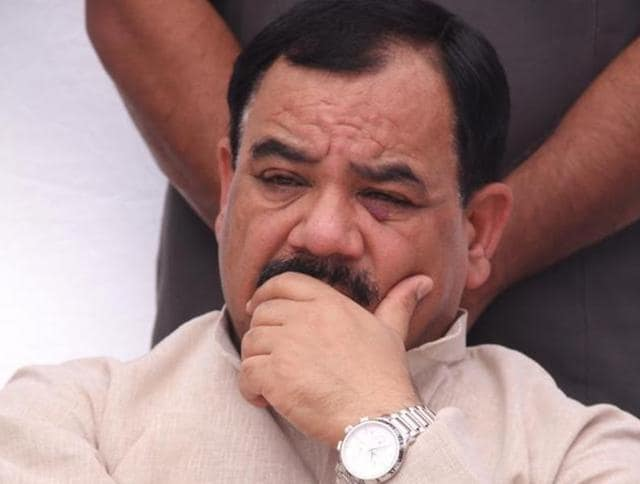 Uttarakhand politician Harak Singh Rawat in Dehradun.