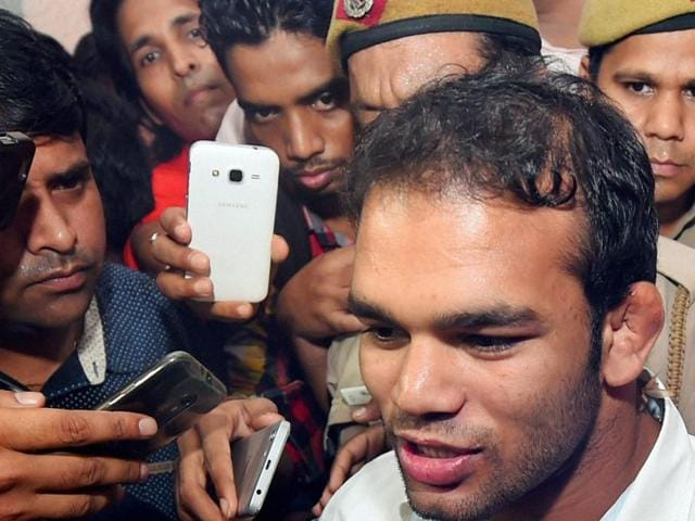 Indian wrestler Narsingh Yadav will know the fate of his doping case on Monday when the National Anti-Doping Agency announces its verdict.(AP)