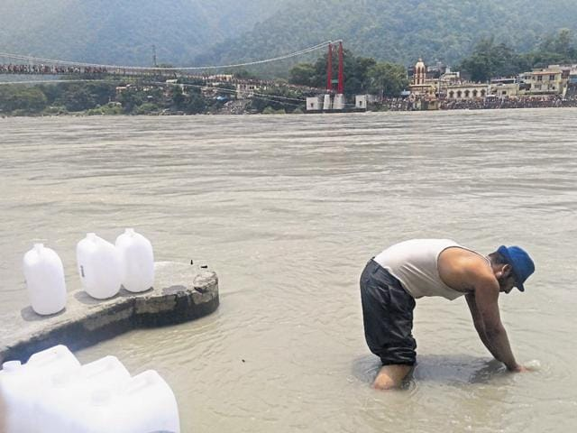 Rishikesh post office has so far collected approximately 28,000 litres of Ganja Jal, This is enough to make 1.40 lakh bottles of 200 ml each.