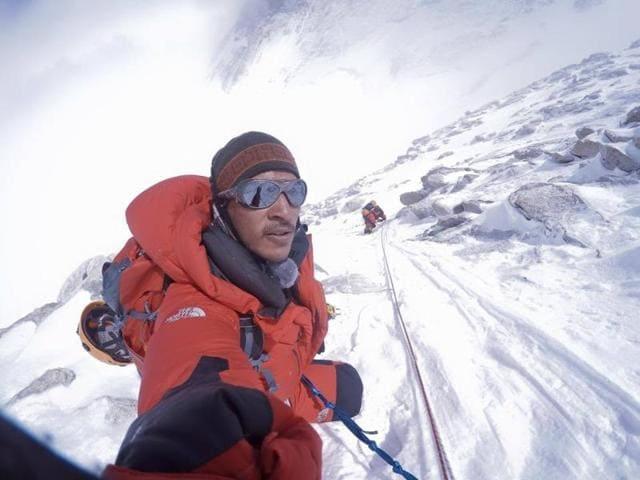 Arjun Vajpai on his expedition to Mount Makalu,