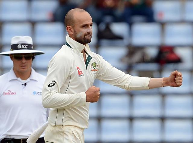 Australia's Nathan Lyon (centre) took just five wickets in the firstTest against hosts Sri Lanka. In contrast, Rangana Herath took nine, again emphasising the need for a wicket-taking spinner in the Aussies' ranks.