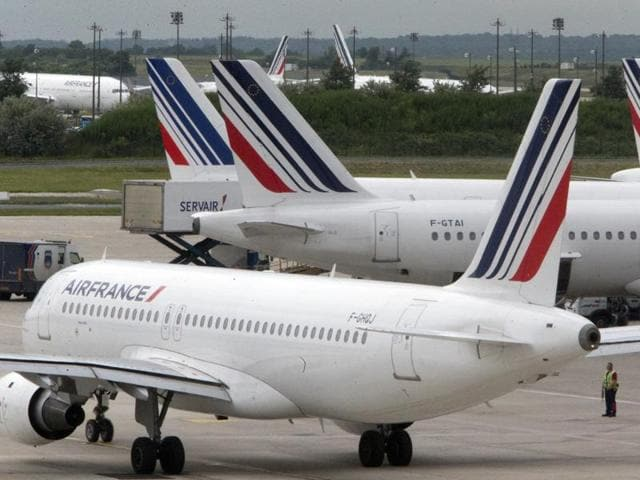 About 900 Air France flights have been cancelled since the action began on Wednesday.