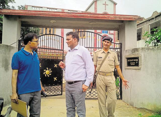Ghatsila DSP Sanjiv Besra at Bethany House, the private hostel where Class 3 student Ramchandra Giri was murdered on the night of June 26.
