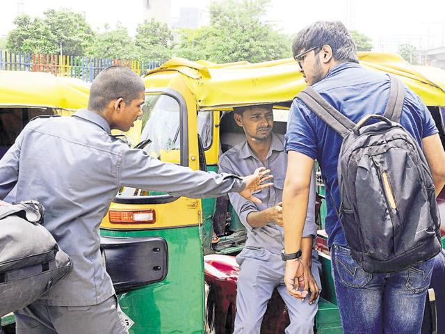 Autorickshaw drivers made a killing with many charging almost triple the normal fare even for short distances.