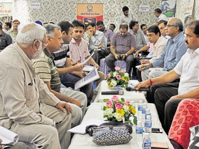 The South Delhi Municipal Corporation (SDMC) on Saturday held its first Janta Darbar in west Delhi's Hari Nagar area during which the mayor and municipal officials lent an ear to the problems faced by local residents.