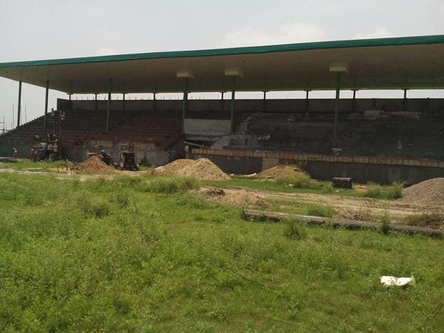 The construction work of the multi-purpose stadium in Sirhind is in the last leg.