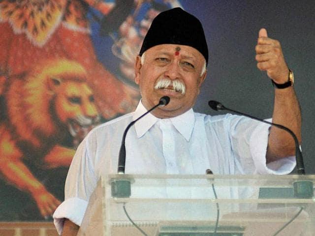 A file photo of Rashtriya Swayamsevak Sangh (RSS) chief Mohan Bhagwat.
