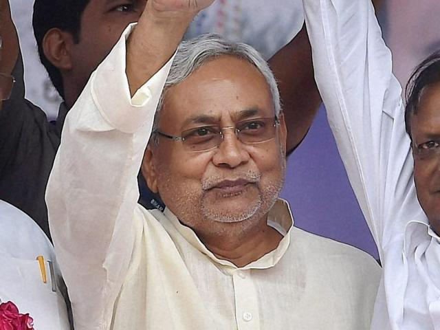 """CM Nitish Kumar (centre) and his government are likely to face an uphill task over passing the changes to the excise and prohibition bill. Some MLAs have dubbed the revised bill as """"draconian""""."""