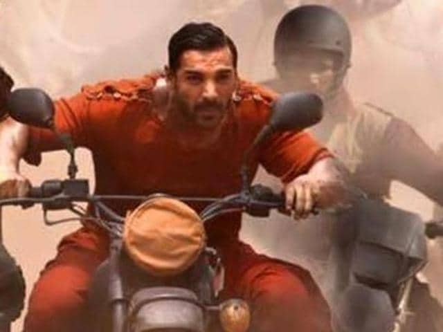 John Abraham and Varun Dhawan's buddy-cop film Dishoom is mainly about flashy landscapes and elaborately planned action sequences.