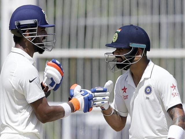Lokesh Rahul's excellent 158 coupled with Virat Kohli's quick 44 gave India a 162-run lead on day 2 of the second Test in Kingston.
