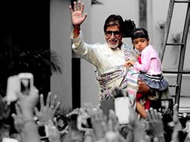 The fan scaled the huge wall of Amitabh's Juhu bungalow to sing a song for the actor. (File photo)