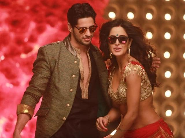 Katrina Kaif and Sidharth Malhotra in a still from the recently released song Kala Chashma of their upcoming movie Baar Baar Dekho.