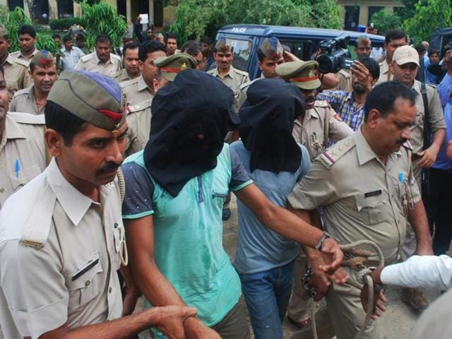 Three people were arrested by police in highway robbery and gangrape case at Bulandshahr, in Ghaziabad.