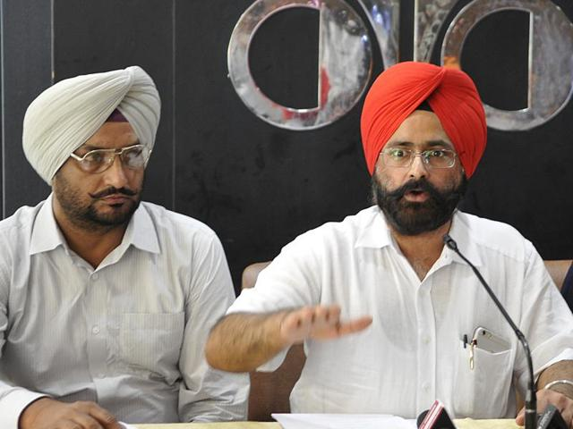 Members of Progressive Dairy Farmers' Association at a press conference in Chandigarh on Monday.